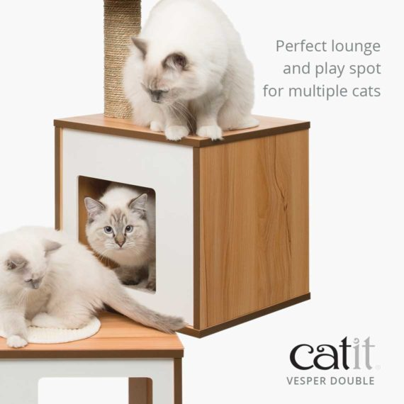Vesper Double is a perfect lounge and play spot for multiple cats
