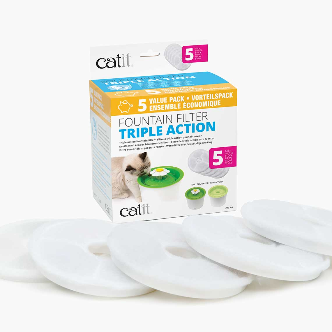 Triple Action Filter - 5 Pack