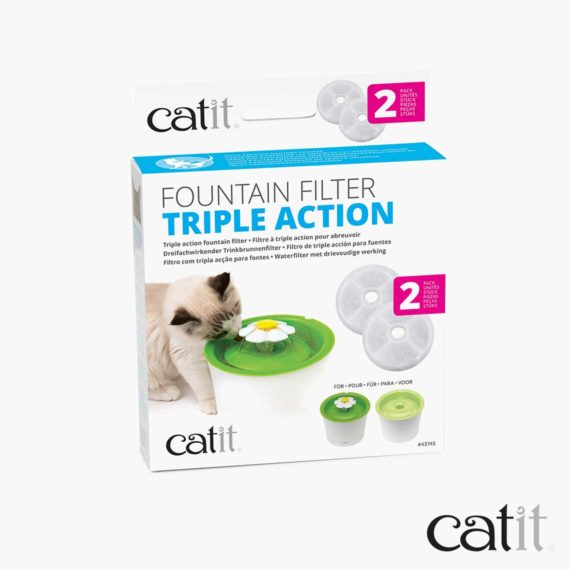 Catit triple action filter 2 pack packaging
