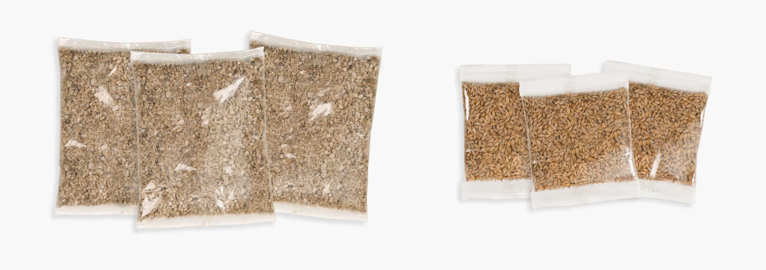 Senses 2.0 Grass Kit containing 3 sets of seeds and vermiculite