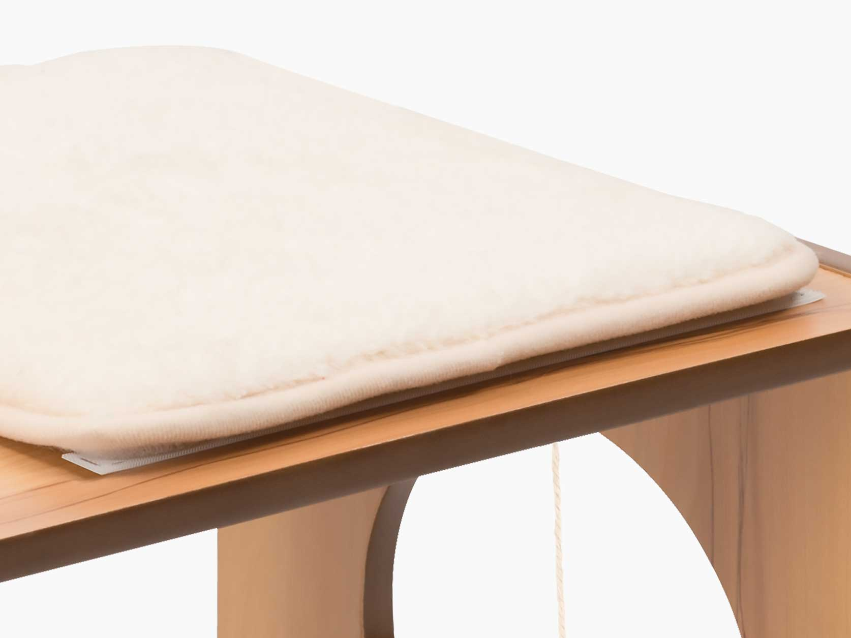 Close-up of the memory foam cushion on the Vesper Stool