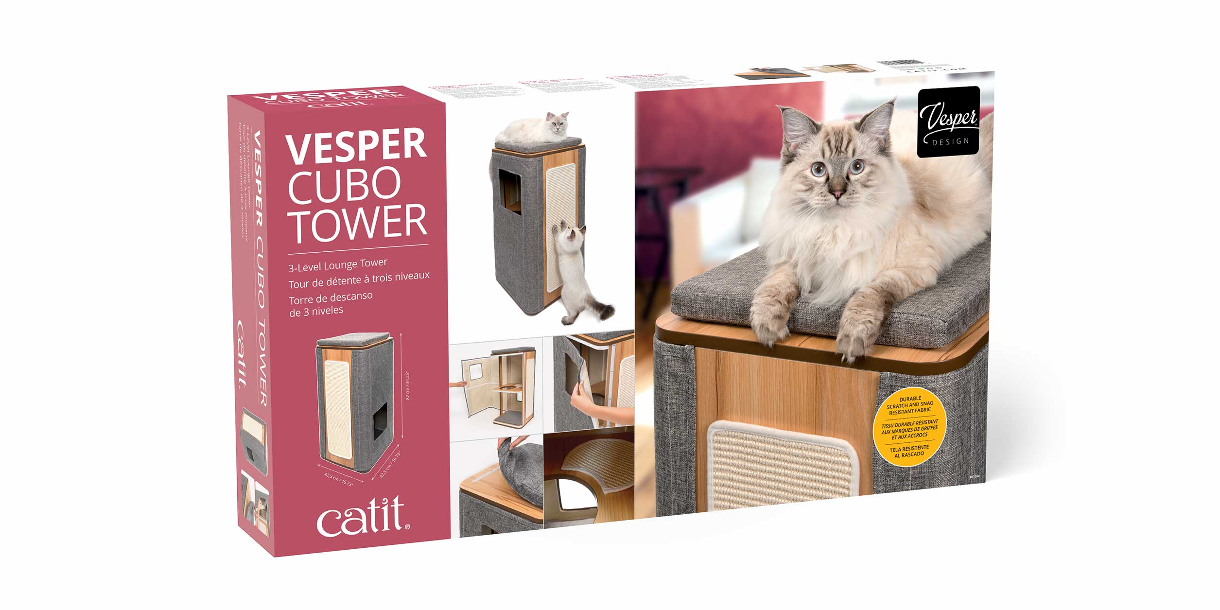 Packaging of the Vesper Cubo Tower