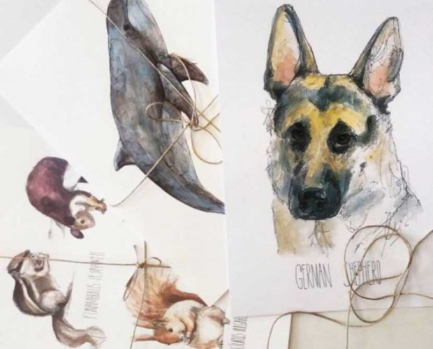 Beautiful paintings of mammals by Maria Perinan