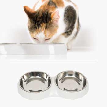 43872 - Feeding Dish Double White