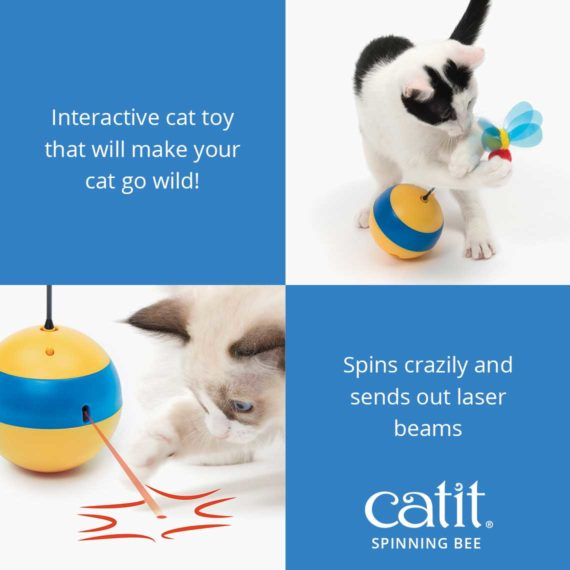 Catit Spinning Bee is an interactive cat toy that spins crazily and sends out laser beams 2