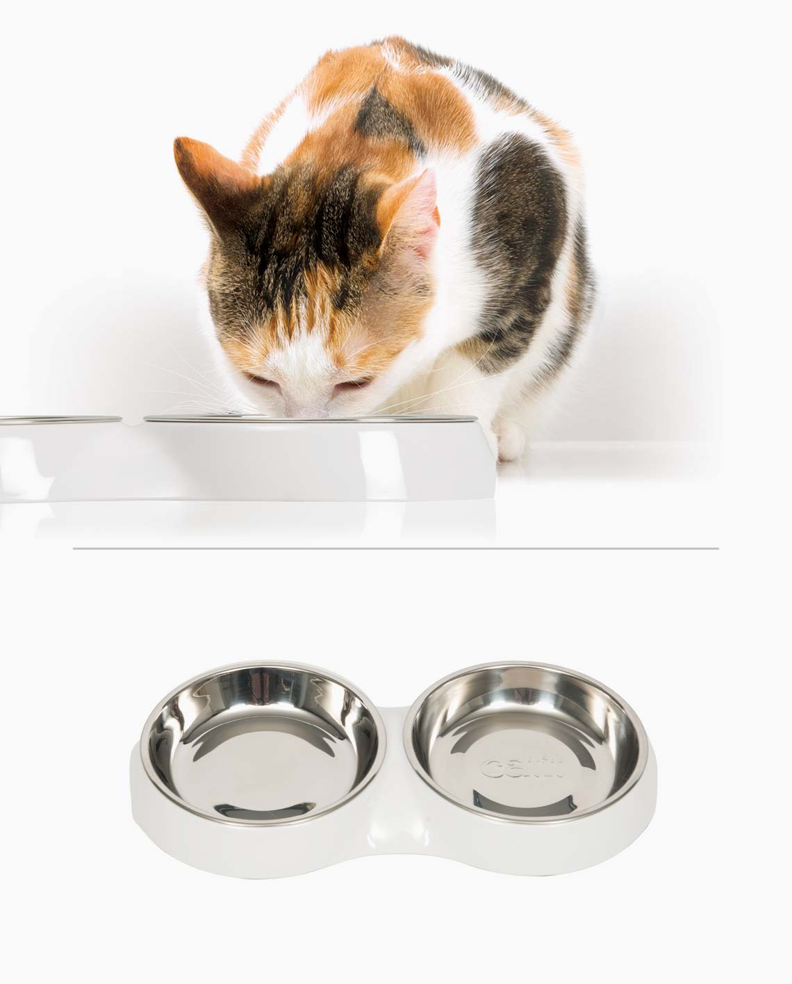 Feeding Dish Double – White