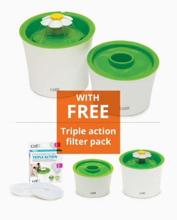 Catit diner set with free triple action filter
