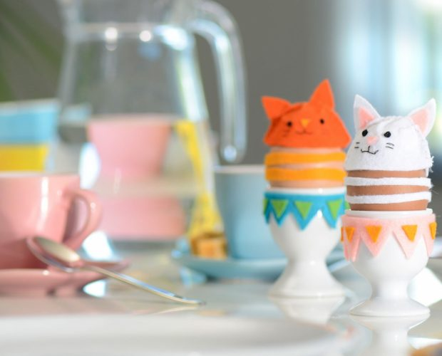 DIY cat ornaments for easter