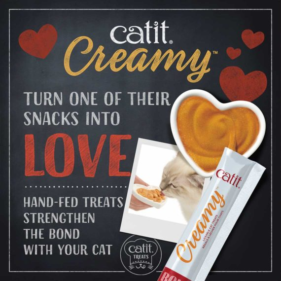 Catit Creamy - Hand fed treats strengthen the bond with your cat