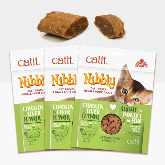 44477P1 - Catit Nibbly – Chicken & Liver 3 Pack