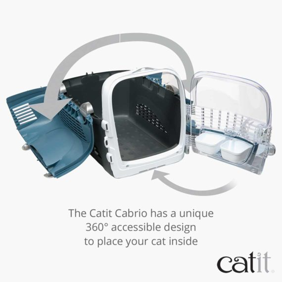 Catit Cabrio Has a unique 360° accessible design to place your cat inside