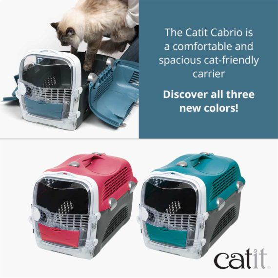 Catit Cabrio is a comfortable and spacious cat friendly carrier