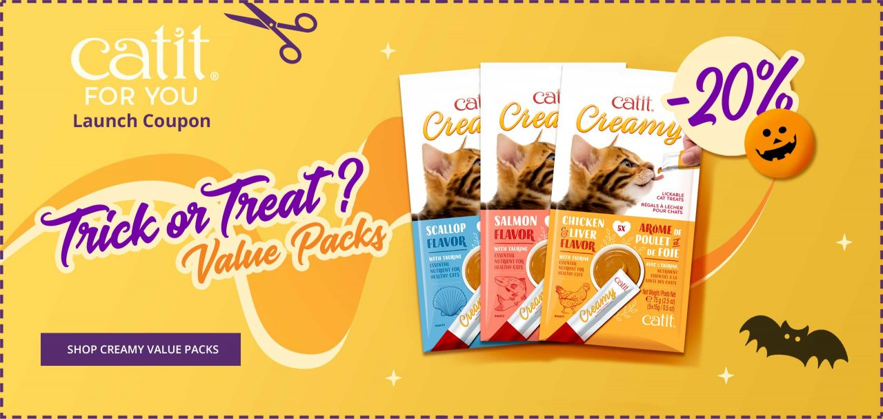 Launch coupon - 20% off Catit Creamy value packs