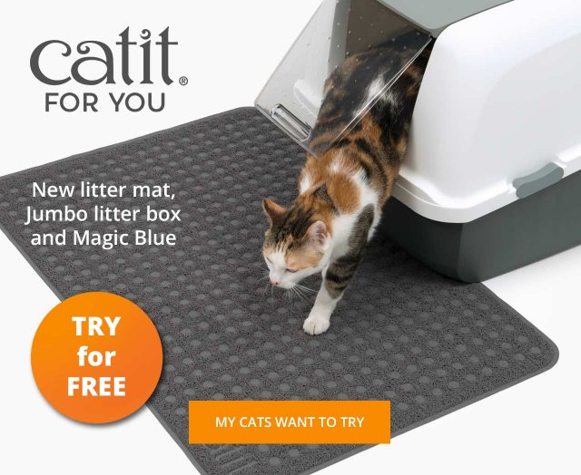 Try our Products - Jumbo litter box and litter mat