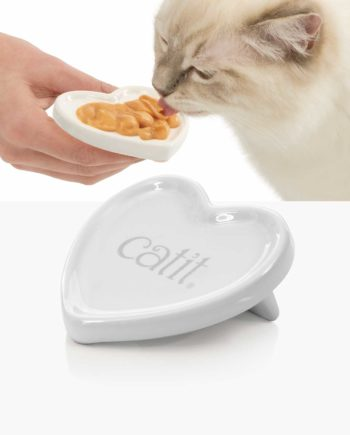 43861 - Catit Ceramic Heart Dish