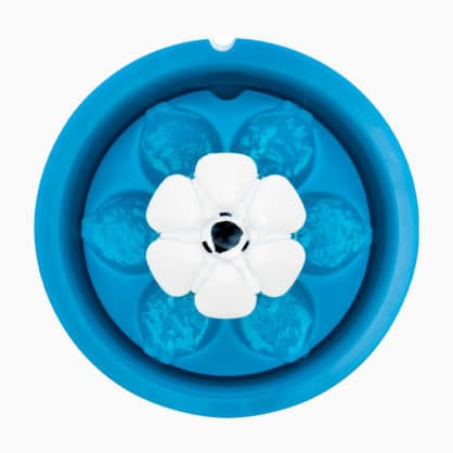 Top view of the Catit LED Flower Fountain without the flower bud