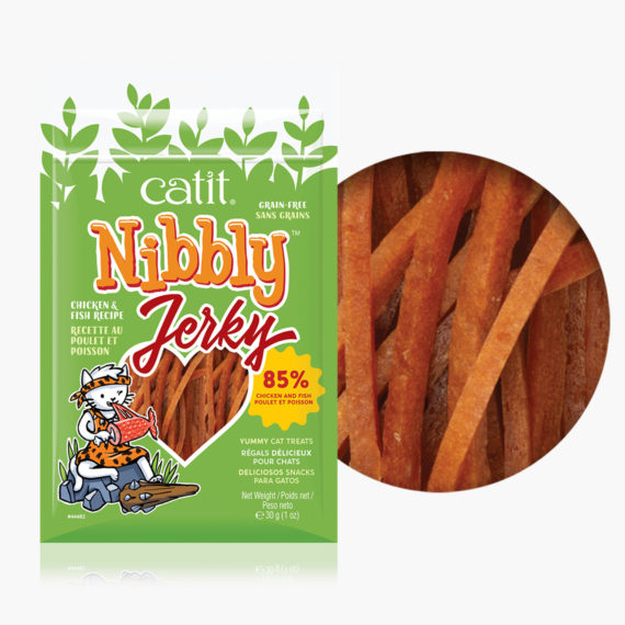Catit Nibbly Jerky - Chicken and fish flavor