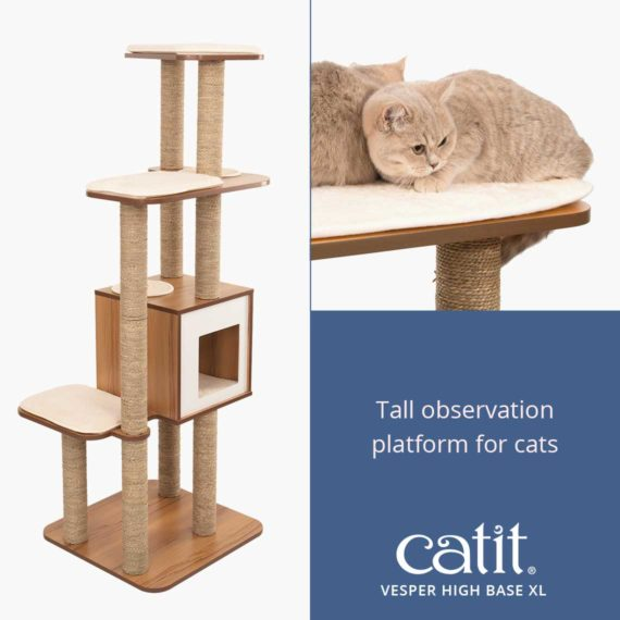 Catit Vesper High Base XL is a tall observation platform for cats