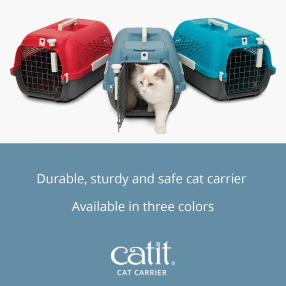 Catit Cat Carrier is a durable, sturdy and safe cat carrier available in three colors