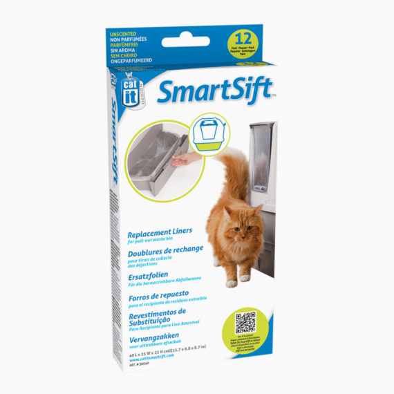 50540-Catit Design SmartSift-Replacement Liners 12-pack For Cat-Pan Base