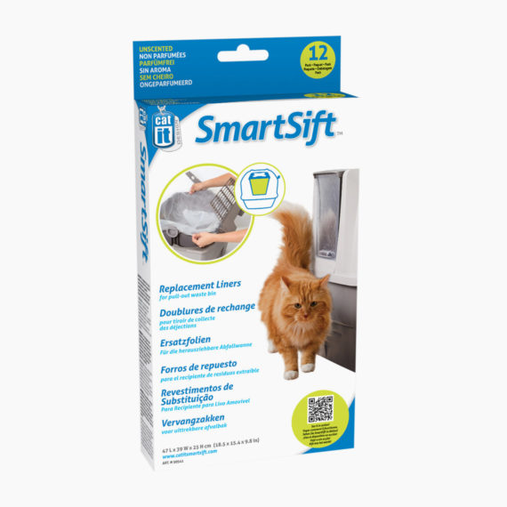 50541-Catit design SmartSift Replacement Liners 12-pack For Cat Pan Base