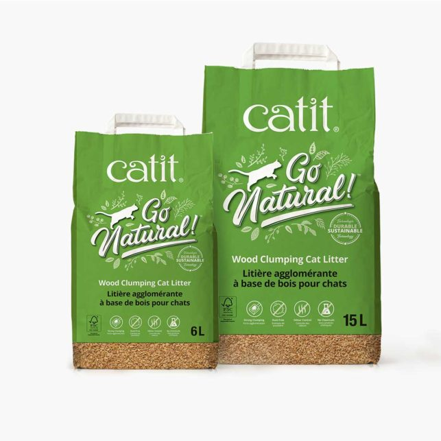 Go Natural! Wood Clumping Cat Litter