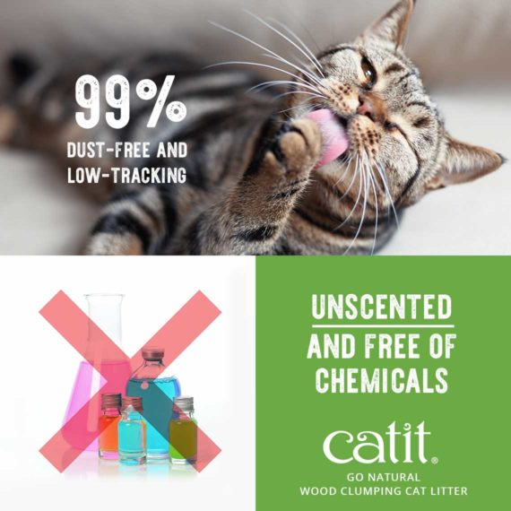 99% dust-free and low-tracking, unscented and free of chemicals