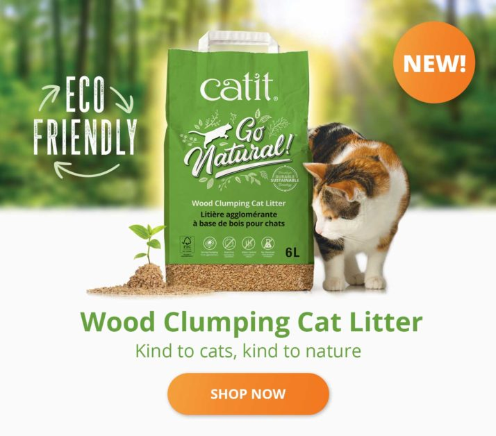 Wood clumping cat litter - kind to cats, kind to nature - Shop now