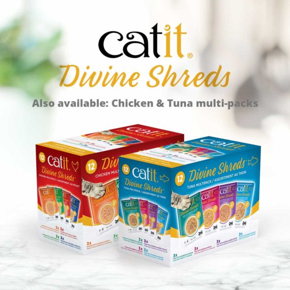 Catit Divine Shreds - Fish - Also available: Chicken & Tuna multi-packs