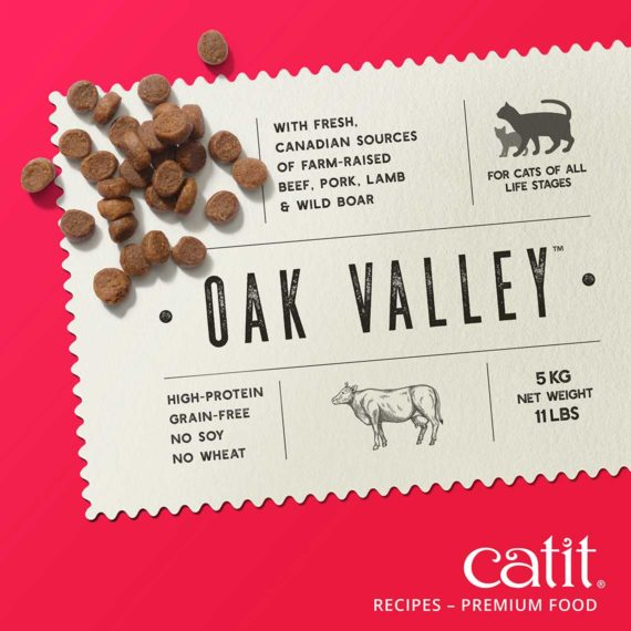 Catit Recipes - Premium Kibble - with fresh, Canadien sources of farm-raised beef, pork, lamb & wild board - for cats of all life stages